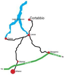 CartinaCortabbio DOVE SIAMO
